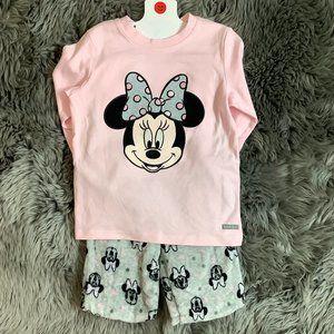 Disney Junior | Girl's 2 Piece PJ Set | Minnie